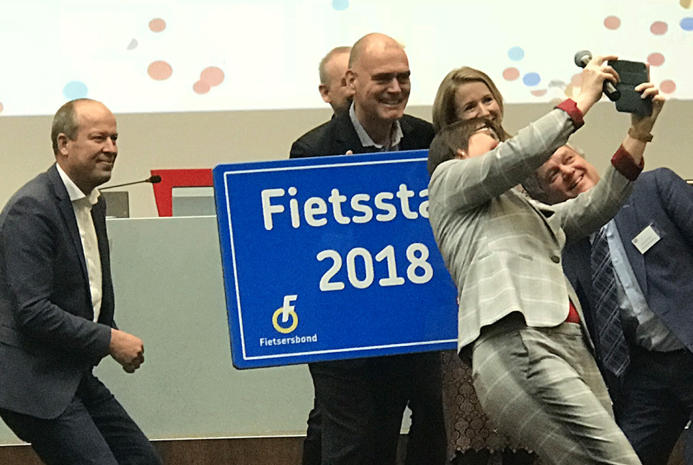 Houten opnieuw uitgeroepen tot Fietsstad 2018